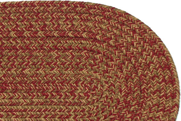 Charles Blend New Red Braided Rug