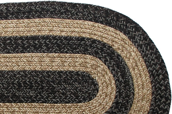 Ohio Country Black Amp Brown Braided Rug