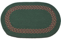 Dark Green - Dark Green, Burgundy & Camel Band