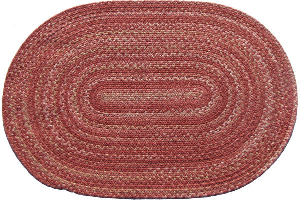 Lowcountry Rose Oval Wool Braided Rug