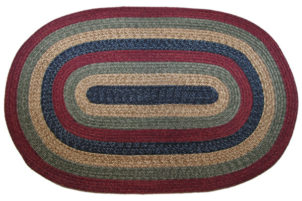 California Country Sunset Oval Braided Rug