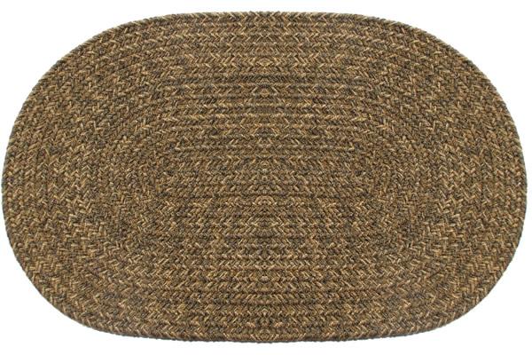 Yukon Brown Oval Braided Rug
