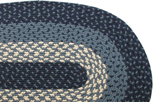 1607 Navy Braided Rug