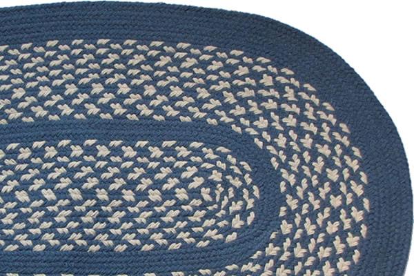 1778 Williamsburg Blue Braided Rug