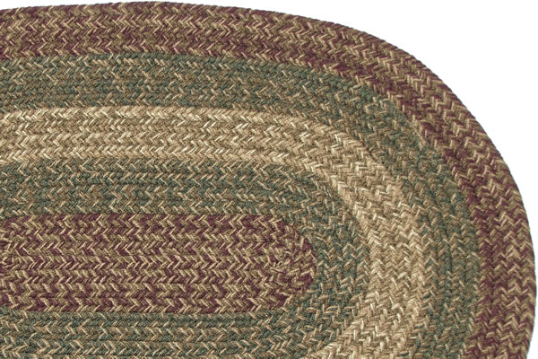 Massachusetts Charles Burgundy Amp Sage Braided Rug