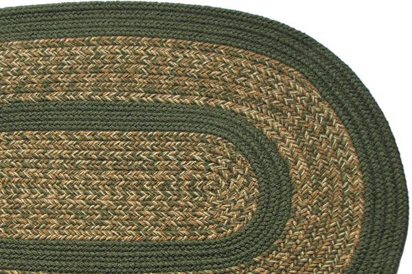 1776 Jane Blend Sage Braided Rug