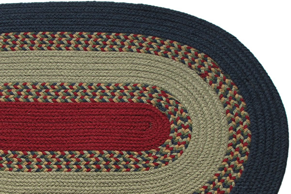 1812 Navy Gray Amp New Red Braided Rug