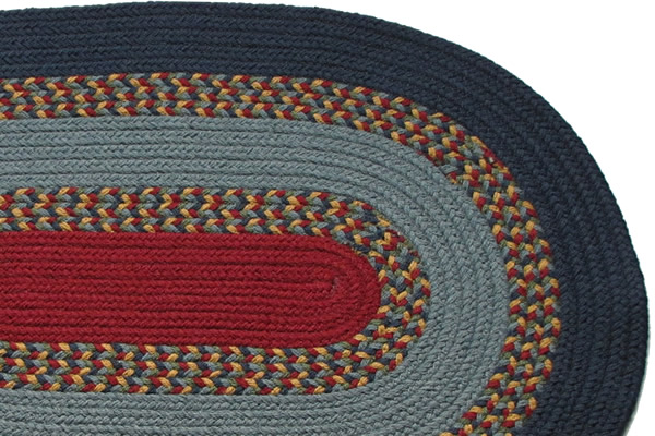 1812 Navy Williamsburg Blue Amp New Red Braided Rug