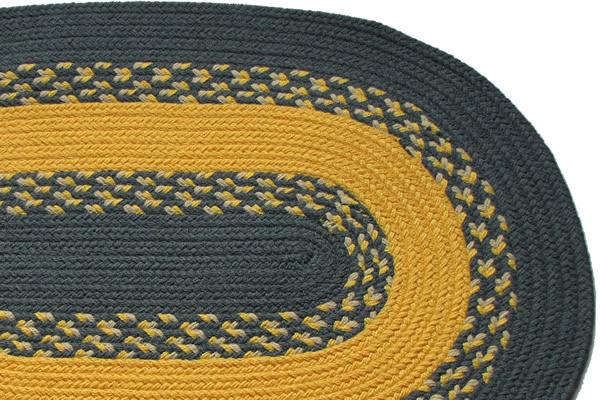 1812 Williamsburg Blue Amp Yellow Braided Rug
