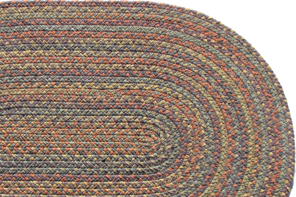 Highland Garden Wool Braided Rug