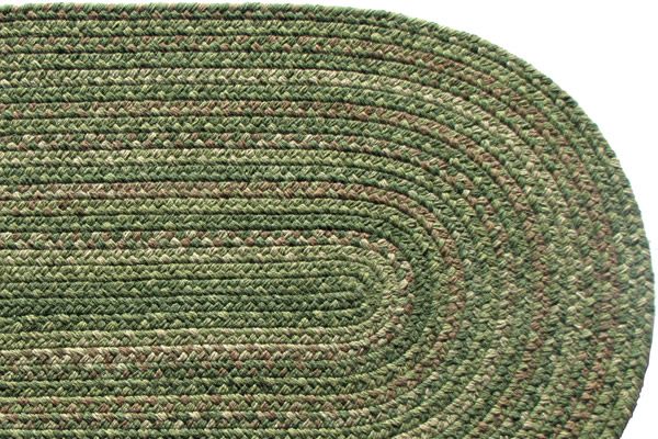 Lowcountry Green Wool Braided Rug
