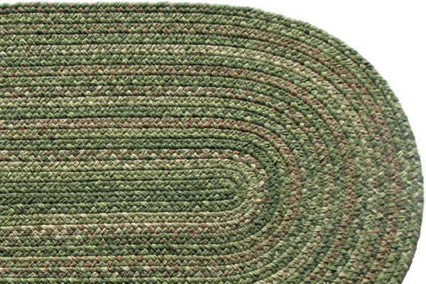 Lowcountry Green Wool Braided Rug