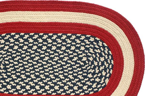 americana - braided rug