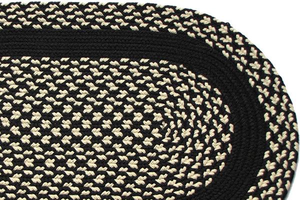 black and cream rug. Braided Rug Black And Cream