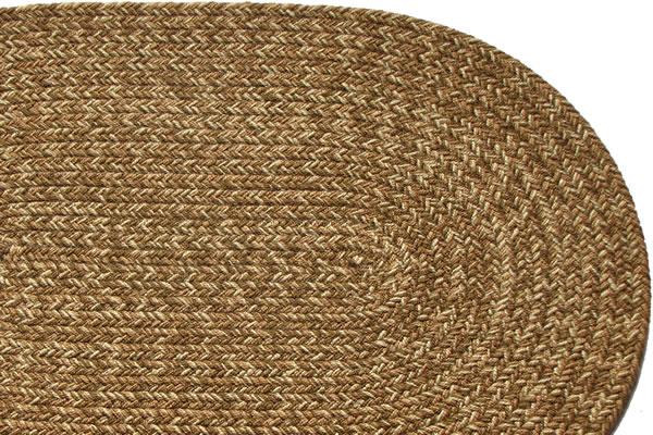 Brown Tweed Braided Rug