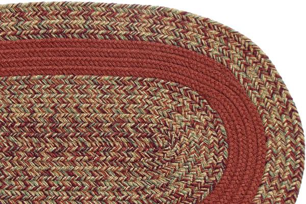 Carolina Harvest Terracotta Band Braided Rug
