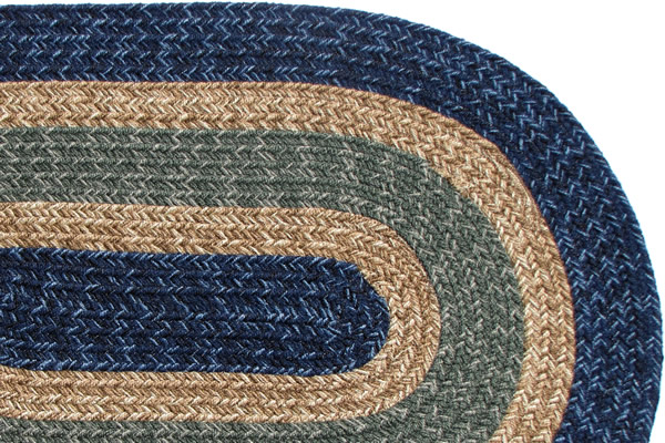 Colorado Country Navy Amp Sage Braided Rug
