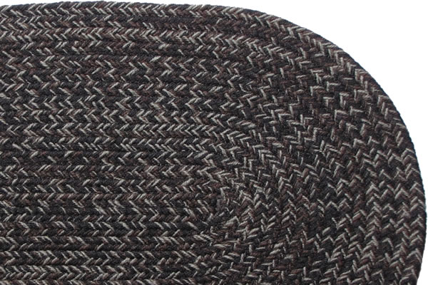 Country Black Braided Rug