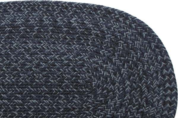 Country Navy Braided Rug