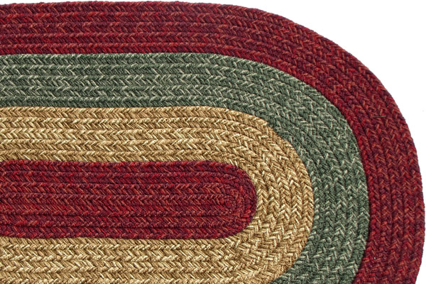 Florida Country Burgundy Amp Sage Braided Rug