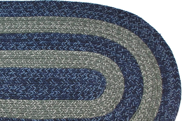 Illinois Country Navy Amp Sage Braided Rug
