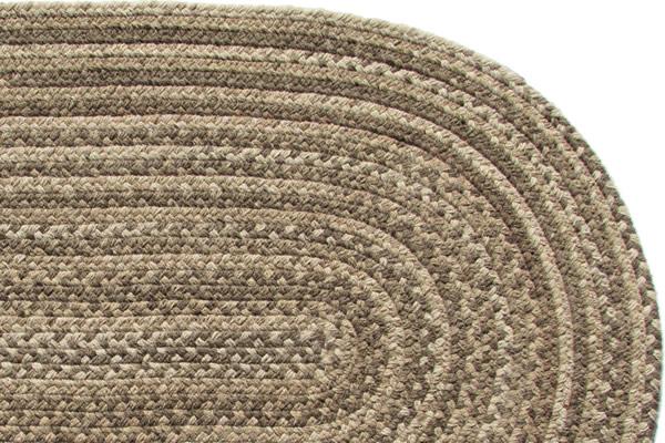 Lowcountry Brown Wool Braided Rug