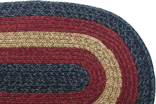 Massachusetts Country Navy Amp Burgundy Other Braided Rug