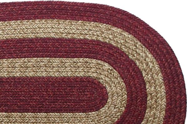 Ohio Country Burgundy Amp Brown Braided Rug
