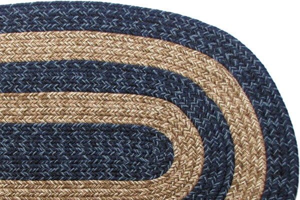 Ohio Country Navy Amp Brown Braided Rug