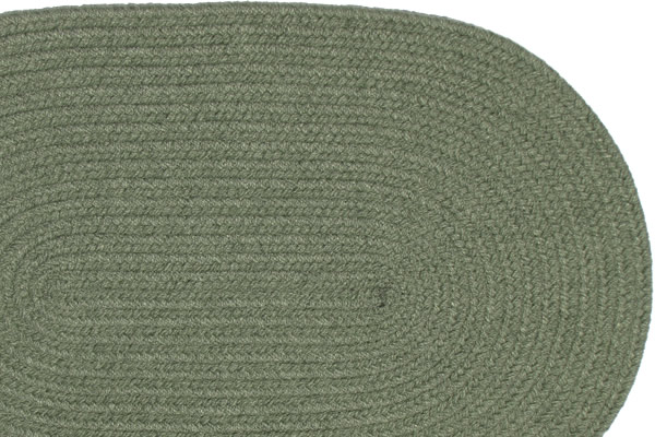 Solid New Sage Braided Rug