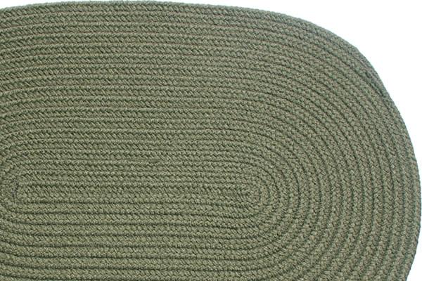 Solid Sage Braided Rug