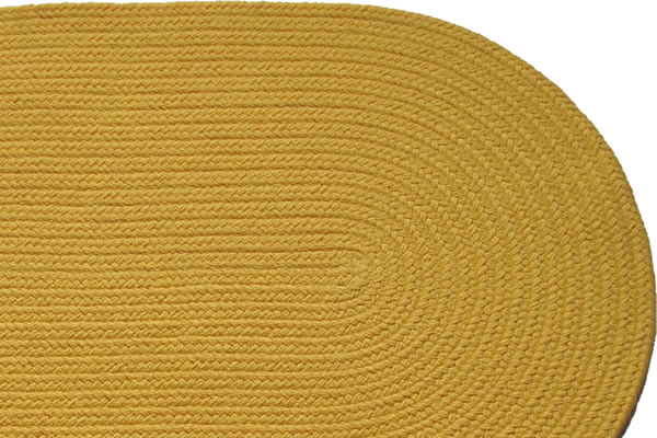 Solid Yellow Braided Rug